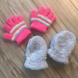 Other - Baby Gloves & Fuzzy Mittens